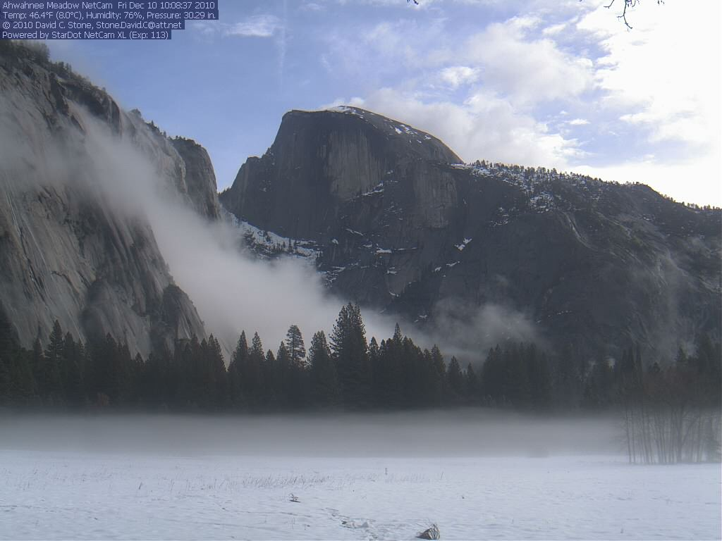 Yosemite Park's Half Dome as seen from Ahwahnee Meadow