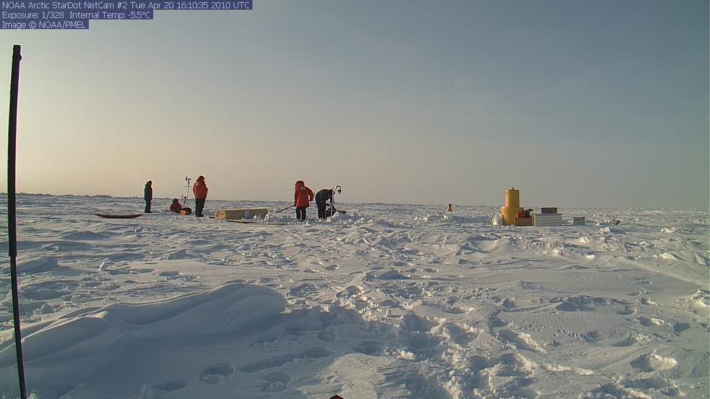 NOAA Installation of NetCam XL at the North Pole