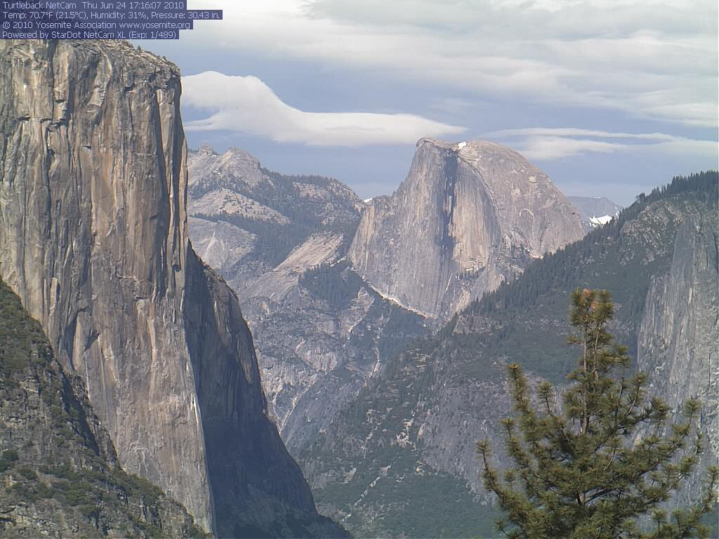 Yosemite Park's Half Dome as seen from Turtleback Dome